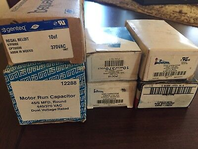 Lot Of 6 Various Air Conditioning Hvac Capacitors Brand New