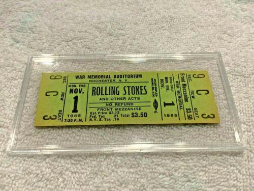 ✅  THE ROLLING STONES UNUSED 1965 TICKET Keith Richards Mick Jagger Brian Jones