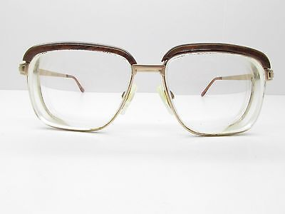 Universal Social Man Eyewear FRAMES 52-14-140 Gold Brown Square TV6