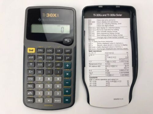 Texas Instruments TI-30XA Scientific Calculator Tested Fully Functional
