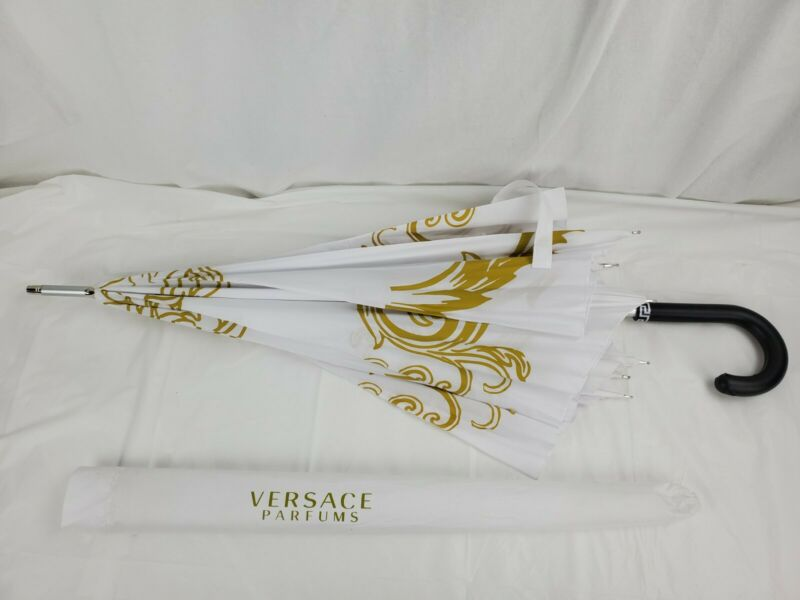Versace Medusa Executive Limited Edition Umbrella White & Gold