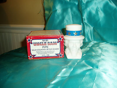 """VTG, """"AVON UNCLE SAM PIPE DECANTER"""", Wild Country after shave, 3 fl oz"""