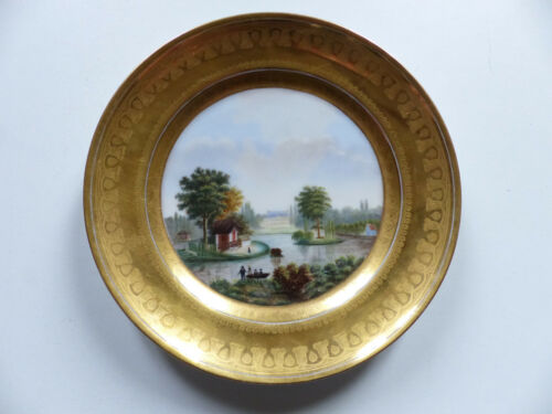 SUPERB ANTIQUE HAND PAINTED PARIS VIENNA PORCELAIN PLATE SIGNED & DATED 1831 #1