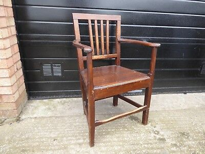 Antique Mahogany Carver Chair / Desk Armchair