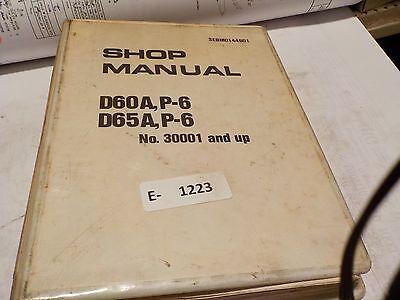 Komatsu Dozer D60a P-6 Pl D65a P-6 Bulldozer Factory Service Shop Manual