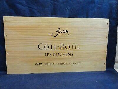 COTE ROTIE LES ROCHINS  RHONE FRANCE WOOD WINE PANEL END