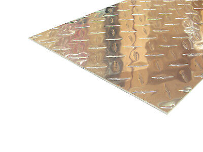 Aluminum Diamond Plate Flat Sheet .062 X 10 X 48 In. Uaac 2pcs