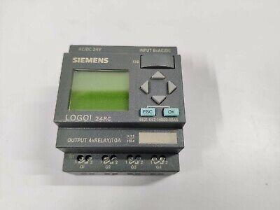 Siemens Logo 24rc Module Relay 6ed1052-1hb00-0ba6