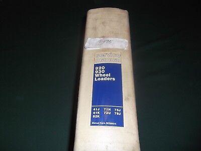 Cat Caterpillar 920 930 Wheel Loader Shop Repair Opsmaintenance Service Manual