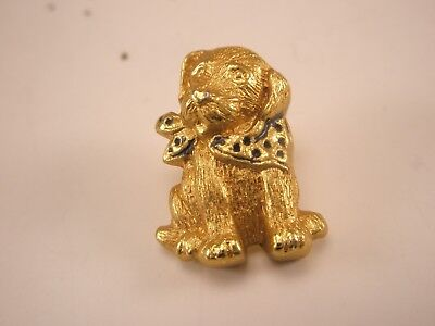Faerie Puppy Dog vintage tie tack used for fairies furniture decor house