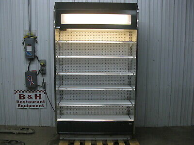 Barker 4 Open Air In Line Refrigerated Multi Deck Grocery Display Case 4724