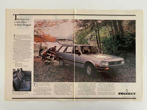 Peugeot 505S Wagon Vintage 1984 Print Ad