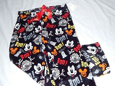 NEW Mickey Mouse Figure Vampire Halloween Pumpkin Sleepwear Pants Womens S-3XL