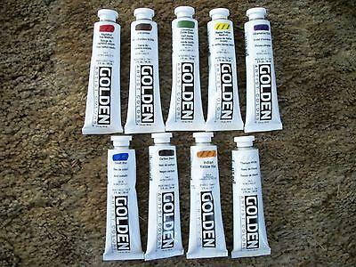 Golden Heavy-body Acrylic Paint 9 - 2 ounce Tubes Lot 10 - Body Paint Tube