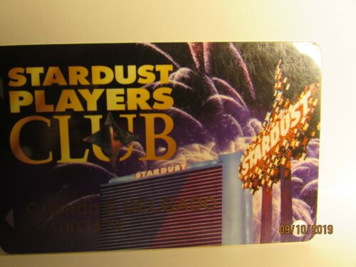Stardust Casino-Players Club Card- Las Vegas,NV- casino now closed- mint