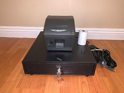 Square Register Bundle Star Tsp743iiu Usb Receipt Printer Cash Drawer Combo