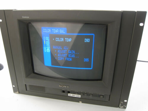 SONY TRINITRON COLOR VIDEO MONITOR PVM-14L1 with rack mounts