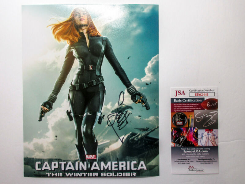 Scarlett Johansson Signed 8x10 Black Widow Avengers Photo EXACT Proof JSA COA