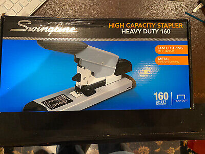 Swingline 39005 High Capacity Heavy-duty Stapler 160-sheet Capacity Blkgrey New