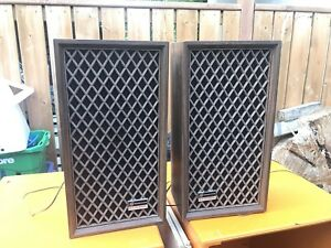 Pair of retro speakers