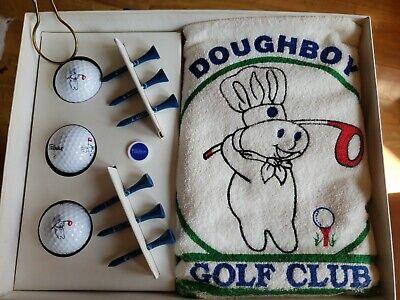 RARE Vintage Pillsbury Doughboy Golf Set - Balls, Tees, Marker, & Towel