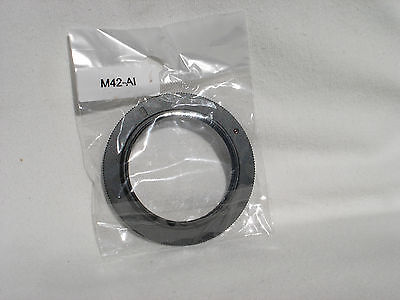 M42 screw mount metal adapter ring to NIKON cameras (AI  F )  SLR or DSLR