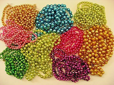 """710"""" VINTAGE COLORED MERCURY GLASS BEAD GARLAND CHRISTMAS FEATHER TREE JAPAN"""