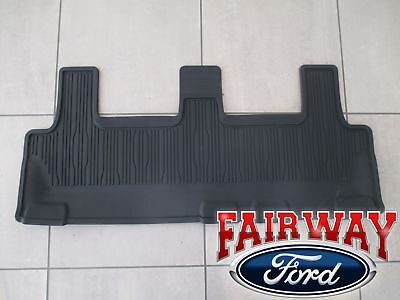 2018 thru 2019 Expedition OEM Ford Black All Weather Floor Mat 3rd Row Seat (3rd Seat Floor Mat)