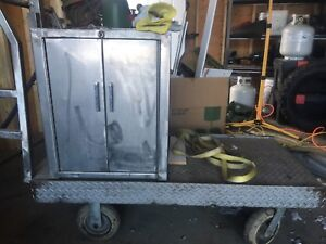 Stainless steel cart and cabinet