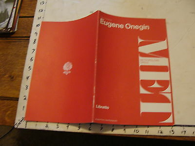 Vintage opera: EUGENE ONEGIN met opera, Libretto, 20 pages.