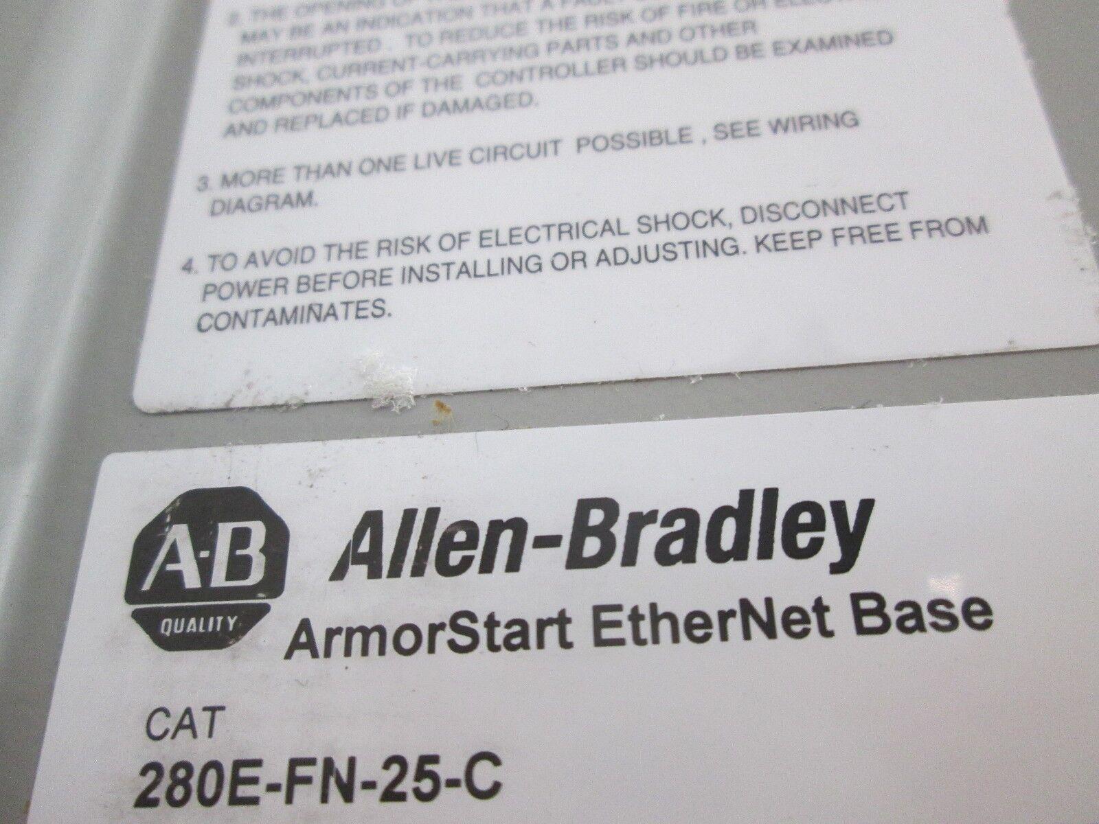 Allen Bradley 280e Fn 25 C Combination Armorstart Motor Base Controller Wiring Diagram 2 Of 6 Control Module