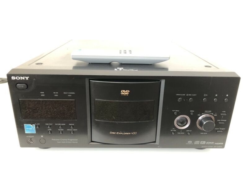 Sony DVP-CX995V 400 Disc CD/DVD Player Disc Explorer 400 with remote.