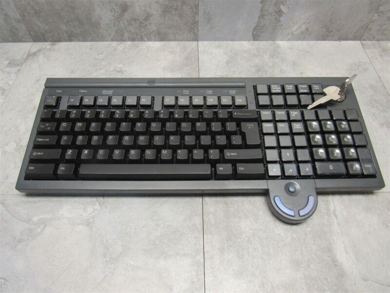 IBM ANPOS POS Keyboard w/ Integrated Mouse + Lock & Key 13G2134 41J0601 41K6962