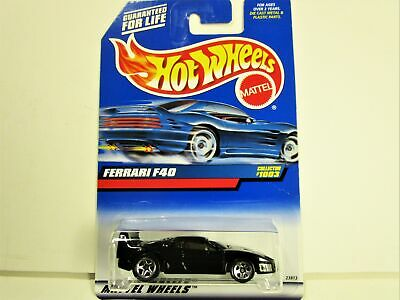 HOT WHEELS FERRARI F40 BLACK WITH RED INTERIOR NEW IN 1999 PACKAGE SUPER NICE