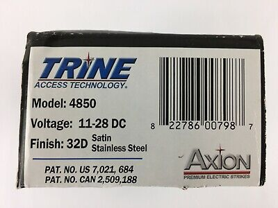 4850 11-28 Dc 32d Trine Access Axion Surface Mount Electric Door Strike 12 Vdc