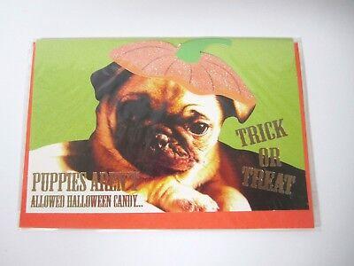 Pug Halloween Card with Envelope (Pug Halloween)