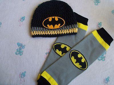 Crochet Baby Batman Hat and Leg - Batman And Baby