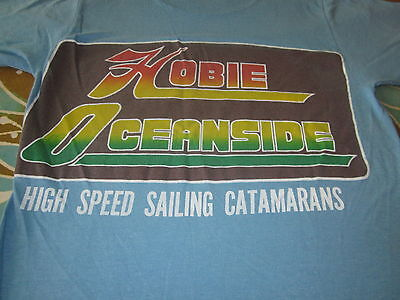 HOBIE VINTAGE 1976 SURF AND SKATE TEE SHIRT MED RARE SO CAL SURF SHIRT