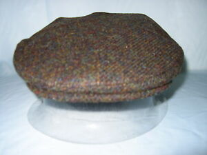 GENTS-SCOTTISH-HARRIS-TWEED-WOOL-FLAT-CAP-FISHING-HUNTING-HIKING-M-L-XL-XXL