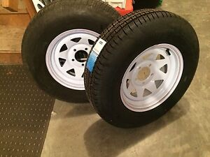 St205/75r14 trailer tire assembly