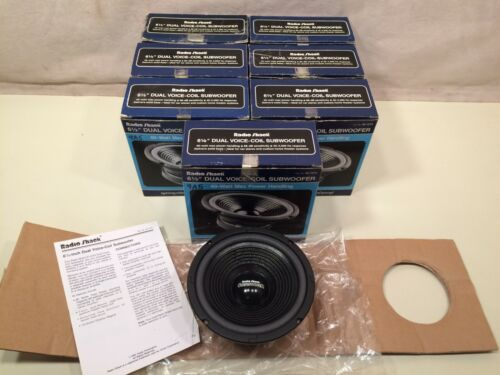 "(7) Radio Shack 6.5"" dual voice-coil woofers (40-1373)"