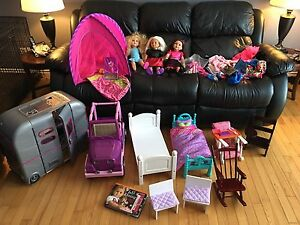 American girl, our generation, my life 18 inch doll stuff