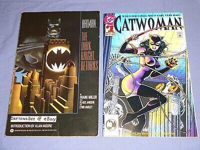 Dark Knight Returns Catwoman (Batman The Dark Knight Returns 1986 TPB+Catwoman #1 1993 Frank Miller Alan)