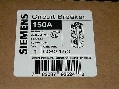 New Siemens Qs2150 Circuit Breaker 150a 120240 Vac 2 Pole Qs - New In Box