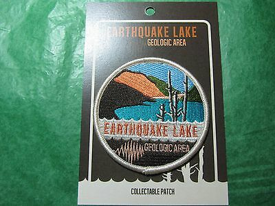 EARTHQUAKE LAKE GEOLOGIC AREA EMBROIDERED PATCH HEBGEN LAKE MONTANA SOUVENIR-P19