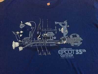 NWT Cast Exclusive Epcot 35th Anniversary T Shirt Figment Dreamfinder Mens XL