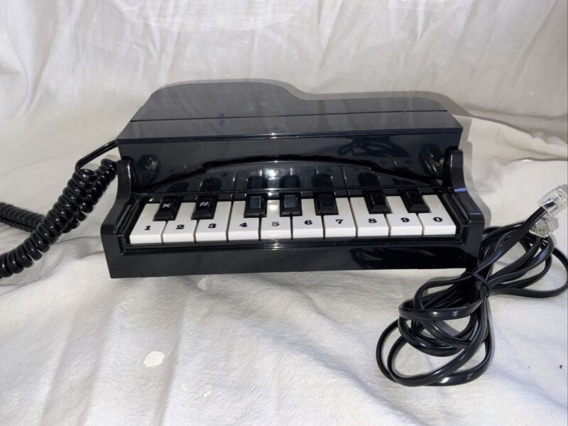 Vintage 1980s Columbia Piano Shaped Novelty Desktop Telephone PN10 Booklet