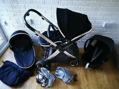 Babystyle Oyster 2 pram pushchair and car seat 3 in 1 Black...