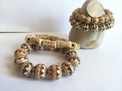 Brown Flower Santa Fe Style Round Ceramic Bead 8-14mm DIY Jewelry Making 55 pcs