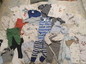 Bulk lot baby new baby boys clothes 39 items